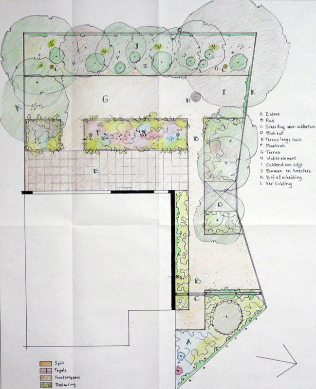 Tuin bij hoekwoning