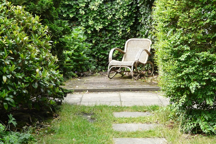 Groene achtertuin