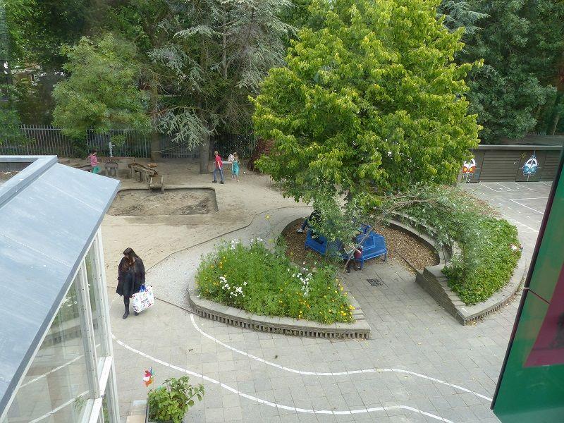 Groene schoolplein